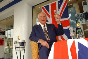 Peter Boizot outside the Broadway venue when he staged a Last Night of the Proms Concert there in 2002