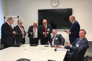 The county's eight council leaders (all pictured here apart from East Northants Council's Stephen North) have spent many months discussing the unitary future of Northamptonshire.