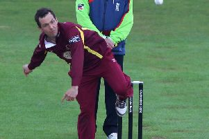 Con de Lange in action for Northants Steelbacks