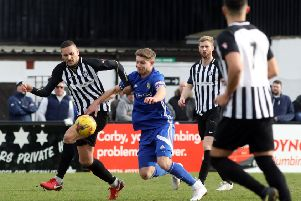 Football Action: Corby: Corby Town vs Peterborough Sports FC'Saturday, 2nd March 2019 NNL-190203-181215009