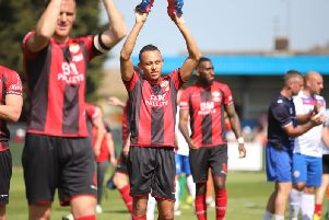 Rhys Hoenes has been one of the stars of an excellent season for Kettering Town. Picture by Peter Short