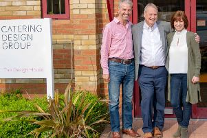 Managing director Phil Howard, centre, with director Steve Hutchings and commercial director Helen Davis.
