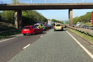 The A14 has been closed since 7am