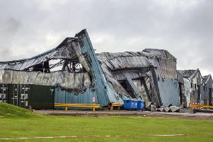 Buildings at Sywell Aerodrome following last week's fire