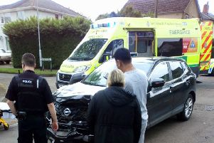 Emergency services were called after the crash.