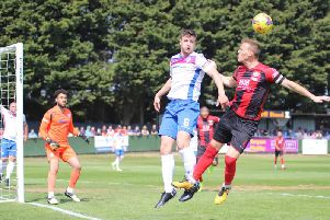 Alex Collard has signed a contract for next season at AFC Rushden & Diamonds. Picture by Peter Short