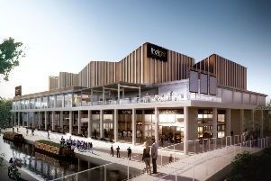 Castle Quay 2 Cinema view final artists impression. As seen looking from the existing shopping centre NNL-191202-152352001