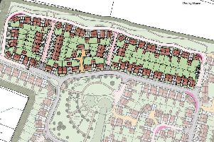 Revised layout plan for northern part of Nyton Nursery development