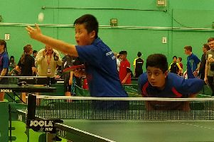 Jun Chung and Wajid Wafiq in action against the North-West in Hatfield. Picture submitted