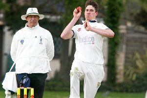 Hastings Priory pace bowler Adam Pye has suffered a setback in his quest to return from injury. Picture courtesy Derek Martin