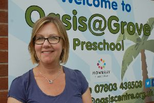 Oasis Family Centre manager Victoria Conyers outside the group's premises at The Grove Primary School in Melton EMN-190613-162445001