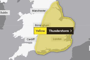 Thunderstorms are set to hit much of the country