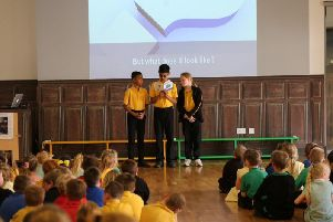 Pupils launch their book