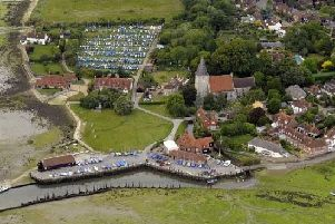Aerial view of Bosham. Picture: Allan Hutchings