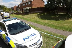 Parts of the village were taped-off