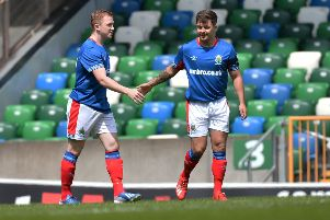 Shayne Lavery gave Linfield the lead inside two minutes.'Photo Colm Lenaghan/ Pacemaker Press