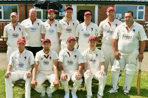 Melton Mowbray CC are more than 30 points clear at the top of Division Three. From left, back - Ben Redwood, Paul Stevenson, James Cusack, Joe Peveritt, Carel Fourie, Gaz Potter, Simon Claricoates; front - Carl Parker, Mike Roberts, Pete Humphries, Jamie Tew.