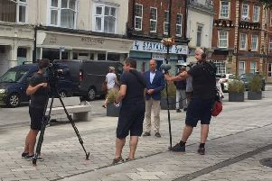 Phil Spencer was spotted filming close to The Royal Hotel NNL-191107-125642005
