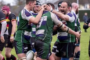 Bognor celebrate a try last season - and they now know who they're playing and when this term / Picture by Tommy McMillan