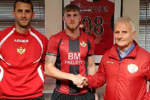 Connor Kennedy remains Kettering Town's only summer signing so far and he is looking forward to testing himself in the Vanarama National League North