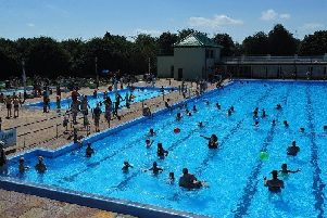 Peterborough Lido is a popular place during the summer