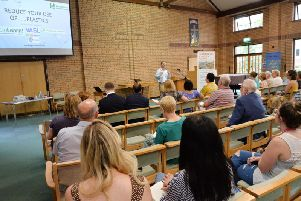 Neil O'Brien MP speaking during the Reduce Your Plastics Use event at the Methodist Church in Market Harborough. PICTURE: ANDREW CARPENTER