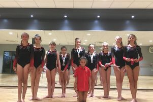 The successful Westgate gymnasts