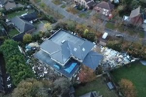 An aerial picture of the site in Willen