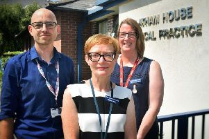 Dr Paul Atkinson (CEO), executive manager Kate Hunter and lead clinic nurse Sarah Mabbott at Latham House Medical Practice in Melton EMN-190208-120843001