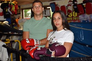 Melton couple Iman Barlow - a double world champion Thai boxer - and Stan Stannard - an international boxer - back home after thwarting a robbery while on holiday in Mallorca EMN-191208-170939001