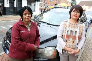 Wellingborough, Jean Posnar (carer) and Pauline Parkin (driver)  who are owed a month's wages and despite not being paid carried on looking after their clients - all who needed personal care.
