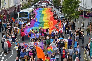 A previous Foyle Pride parade in Derry.