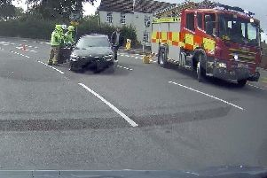 The aftermath of a road collision on the A607 at Thorpe Arnold yesterday afternoon'PHOTO WILLIAM VARNHAM EMN-190820-101026001