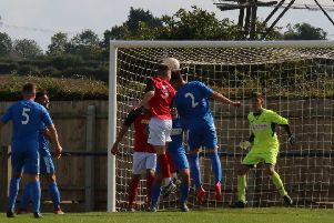 Lewis Railton heads in Town's second equaliser Picture: Paul Jackson EMN-190820-111145002
