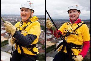 Louise and Meta go over the edge