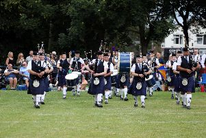 The Grampian Pipe Band are one of the main attractions at Corby Highland Gathering each year