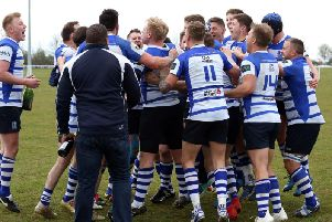 There were celebrations for Kettering after they claimed the Midlands One East title last season. Now they are ready first their first game in Midlands Premier this weekend