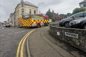 Emergency services are at the scene.
