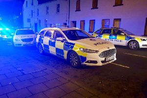 Police picture of the scene in Moy.