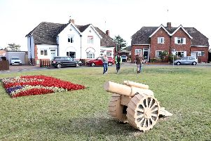The cannon was carved from the historic trees which were felled. Pictures by Alison Bagley.