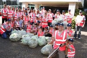 Staff of Smurfit Kappa taking part in World Clean Up Day 2019. 'General manager Matt Watts with staff and their families who took part in a clean up around their factory.