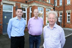 Resident William Leo, Cllr Peter Peel (Head of Neighboourhood Plan Working Party - Oundle), and Mayor of Oundle Tony Robinson