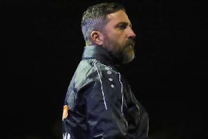 Nicky Eaden pictured during what proved to be his final game in charge of Kettering Town as they were beaten 2-1 at Sutton Coldfield Town in an Emirates FA Cup second qualifying round replay. Picture by Peter Short