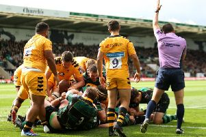 James Fish scored Saints' first try