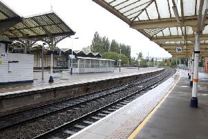 Kettering's railway station.