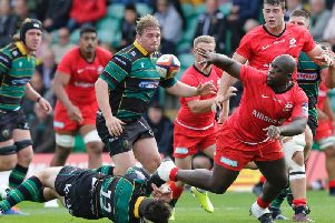 Saints and Saracens scrapped it out at Franklin's Gardens on Sunday afternoon