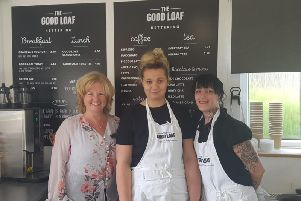 Jane Houston (left), with two women from Good Loaf's back to work course, Charlene (middle), 26, and AnnaJo, 37