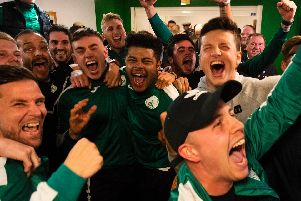 Elation at City! Players and supporters can't contain their excitement at Chi's bye to the second round of the FA Cup / Picture: Daniel Harker