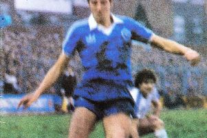 Brighton and Hove Albion's official match day programme cover against Everton in 1982