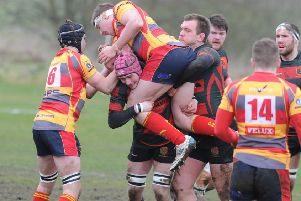 Action from Borough (lighter strip) v Paviors. Photo: David Lowndes.